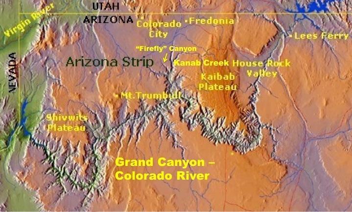 Arizona Strip Map TANNA THORNBURG - Map of northern arizona